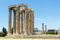 Temple of olympian zeus athens the is a colossal ruined in the centre the greek capital that was dedicated to Stock Photography