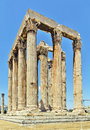 Temple of olympian zeus athens the is a colossal ruined in the centre the greek capital that was dedicated to Stock Image
