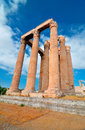 Temple of olympian zeus athens greece Royalty Free Stock Photos