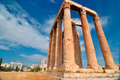 Temple of olympian zeus athens greece Stock Image