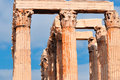 Temple of olympian zeus athens greece Stock Photography