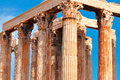 Temple of olympian zeus athens greece Royalty Free Stock Photo