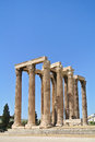 The temple of olympian zeus athens greece Stock Photography