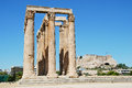 The temple of olympian zeus athens greece Royalty Free Stock Image