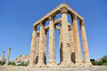 The temple of olympian zeus athens greece Royalty Free Stock Photography