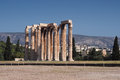 Temple of olympian zeus in athens greece Stock Photo