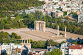 The temple of olympian zeus in athens greece on august Royalty Free Stock Image