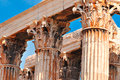 Temple of olympian zeus athens greece close view Royalty Free Stock Photos