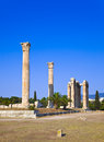 Temple of the olympian zeus at athens greece travel background Royalty Free Stock Photos