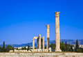 Temple of the olympian zeus at athens greece travel background Royalty Free Stock Photography