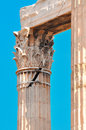 Temple of olympian zeus cracked column detail athens greece Stock Images