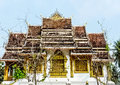 Temple the one architect of lao s at the top of mountain Royalty Free Stock Images