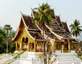 Temple the one architect of lao s at the top of mountain Royalty Free Stock Photography