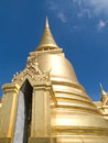 Temple phra siratana chedi in bangkok Royalty Free Stock Images