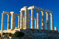 Temple of Poseidon Royalty Free Stock Images