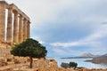 Temple of Poseidon at Cape Sounion Attica Greece Royalty Free Stock Photo