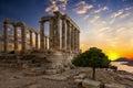 The Temple of Poseidon located at Sounion, Attica, Greece Royalty Free Stock Photo