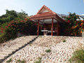 The temple for prayers in thailand small as offerings to gods island of koh larn buddhism Stock Photo