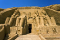 The temple of ramesses ii at abu simbel egypt rameses great situated on western bank lake nasser temples is part Stock Photo