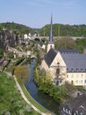 Temple and river of Luxembourg Royalty Free Stock Photo