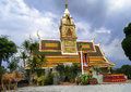 Temple on the road buddhist chonburi rayong thailand Stock Photography