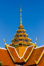 Temple roof art thailand Stock Images