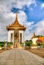 Temple at the royal palace - cambodia (hdr) Royalty Free Stock Photo