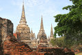Temple Ruins Thailand Royalty Free Stock Photo