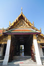 Temple s gate in grand palace is the bangkok most famous landmark which was built within the complex are several impressive Stock Image