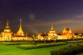 Temple sanam luang thailand night light Royalty Free Stock Images