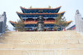 Temple the scenery of zhulin in wutai mountain shanxi china Stock Photography