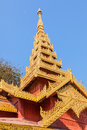 Temple shwezigon pagoda complex itis buddhist temple located nyaung u town near bagan burma nuilt king anawrahta golden decoration Stock Photography