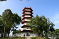 Temple in singapore chinese garden pagoda Stock Photography
