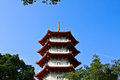 Temple in singapore chinese garden pagoda Stock Image