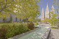 Temple square Salt Lake city Utah. Royalty Free Stock Photo