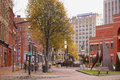 Temple street portland maine october image of which is s town square shot in autumn with foliage october in Royalty Free Stock Photos
