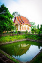 Temple in surin wat prasart srilararm thailand Royalty Free Stock Photo