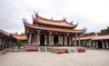 Temple Taiwan courtyard Royalty Free Stock Photo
