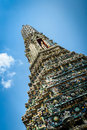 Temple thailand bangkok yai district deails of arun wat arun ratchawararam Stock Image
