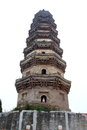 Temple tower the putong is located in putong in nangong which is a city in the northern province of hebei china the is built Royalty Free Stock Images
