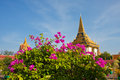Temple towers in royal palace phnom penh cambodia Royalty Free Stock Image