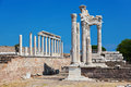 Temple of Trajan at Acropolis of Pergamon in Turkey Stock Photography