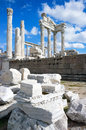 Temple of Trajan Pergamon Royalty Free Stock Images