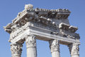 Temple of Trajan, Pergamon, Turkey Royalty Free Stock Photo