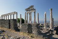 Temple of trajan pergamon turkey reconstructed fragment the in ancient bergama Stock Photo