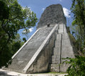 Temple V, Tikal Stock Photo