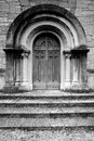 Temple of victory - San Pellegrino Terme - door Royalty Free Stock Image