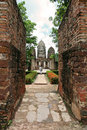 Temple walls Sukhothai historic park thailand Royalty Free Stock Photography