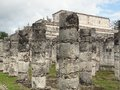 Temple of the warriors in chichen itza archaeological site yucatan mexico Royalty Free Stock Photo