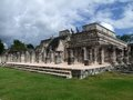 Temple of the warriors in chichen itza archaeological site yucatan mexico Royalty Free Stock Photos